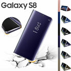 Samsung Galaxy S8 S8+ Clear View Mirror Leather Flip Stand Case Cover HOT SOL