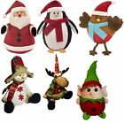 Childrens Door Stopper Filled Heavy Animal Christmas Dog Novelty Santa Wedge