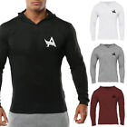 New Men's Gym Bodybuilding Hoodie Casual Breathable Sportswear Pullover Tops