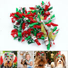 10/40/100pcs Pet Puppy Dog Christmas Hair Bows Accessories Grooming Xmas Gifts