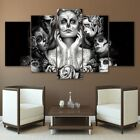 5xPcs Skeleton Wall Paintings Canvas Modern Art Picture Home Decrotion Gifts