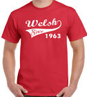 Welsh Since 1963 - Mens Funny 55th Birthday T-Shirt - Rugby Football Flag Wales