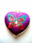 GORGEOUS SEQUINNED BUTTERFLY COMPACT MIRRORS-Various colour & shape...