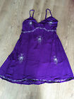 PLUS SIZE 20 22  Purple Butterfly Embroidered Dress CLEARANCE