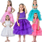 Elegant Flower Girl Dresses Party Wedding Toddler Layered Baby Children Clothes