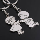 Silver Metal I Love You Cupid Heart Couples Keyrings Puzzle Keychain Lovers Gift