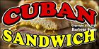 (CHOOSE YOUR SIZE) Cuban Sandwich DECAL Concession Food Truck Vinyl Sticker