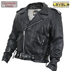 Xelement XS-5890 Armored Black Leather Classic Biker Jacket