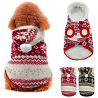 Winter Warm Dog Coats Chihuahua Clothes Pet Hoodie Xmas Puppy Costume Jacket S-L