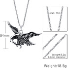 Sliver Angel Wings Design Stainless Steel Men's Fashion Pendant Cool Necklace