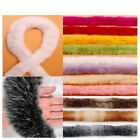 1 Meter Rabbit Fur Ribbon Tapes Fluffy Furry Trim Trimming Sewing Costume Crafts