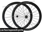 Carbon Road Biycle Dimple Finish 25mm Width 50mm Clincher Wheels Ceramic Hubs