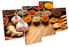 Indian Curry Spices Herbs Print CANVAS WALL ART Multi Panel