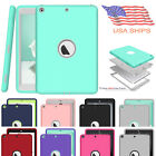 """For iPad 9.7"""" 5th 6th 2017 2018 Shockproof Hard Rubber Hybrid Guard Case Cover"""