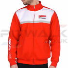 Ducati Corse Official Red & White Zip Pile Fleece Mens Size Medium