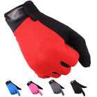 Full Finger Cycling Glove Bike Anti-Skid Fitness Touchscreen Glove 5 Color Cloth