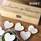 Wedding Guest Book Alternative Personalised Wooden Guestbook Rustic Drop Box