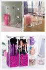Excellent Dust Proof Acrylic Box Makeup & Brush Organizer With Rosy /Pink Pearls