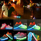 Boys Girls USB Charging LED Light up Kids Shoes Trainers Casual Sneaker Fashion