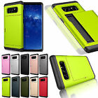 Wallet ID Card Holder Shockproof Rubber Armor Case For Samsung Galaxy Note 8 5 4