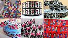 Mickey Minnie Mouse Zebra Bow Hearts Red Pink Blue Grosgrain Ribbon 1m Metre UK