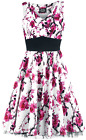 H&R London Pink Floral Dress Kleid weiß/pink