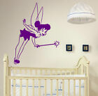 Magic Fairy Wall Sticker Tinkerbell Nursery Girls Room Removable Decal Wall Art