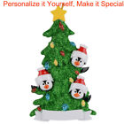 Personalized Christmas Ornaments Family of 3 4 5 6 7 Green Christmas Tree