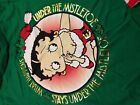 Betty Boop Under Mistletoe Girls Long Sleeve Christmas T-Shirt kids youth NEW!!! $14.99 USD