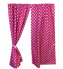 GIRLS PLAYHOUSE CURTAINS ~ PINK DOTTY ~ INCLUDES FITTINGS