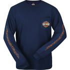 Harley-Davidson Men's Scream Words Long Sleeve Pocket Tee R002466 $35.0 USD