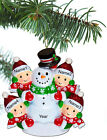Внешний вид - Personalized Christmas Tree Ornaments Family of 2 3 4 5 Gift Snowman Ornament