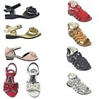 GIRLS CHILDREN KIDS PARTY LOW HEEL WEDDING BIRDESMAID SANDALS SHOE 7-2