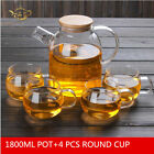 Bamboo Nordic Style Heat-resistant Glass Flower Teapot Set Creative Kettles