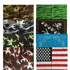 NEW LOT OF 12 PCS Mix Color Bandana Head Wrap Scarf 100% Cotton USA BB