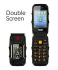 TRANS X10 Dual Screen GSM Flip Phone Big Battery Power Bank Mobile Cell Phone
