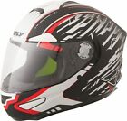 Fly Luxx Motorcycle Helmet - Shock Matte Black/White/Red