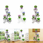 4 Tier Freestanding Decorative Wrought Iron Planter Stand Flower Pot Rack Holder