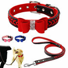 Elegant Braided Leather Dog Collars and Leads Leash Padded for Small Large Dogs