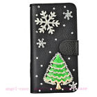 Luxury Bling Diamonds Crystal Christmas Tree Leather Flip Wallet Case Cover Gift