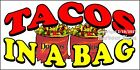 (CHOOSE YOUR SIZE) Tacos In A Bag DECAL Concession Food Truck Vinyl Sticker