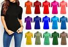 NEW LADIES ROLL TURTLE NECK STRETCH VISCOSE 1/2 SLEEVE BODYCON T SHIRT TOP 8-26