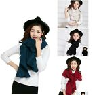 Womens Large Knitted Ruffle Scarves / Shawls Black Red Beige Teal