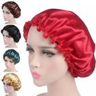 silk sleep cap hair - Silk Night Sleep Cap Hair Bonnet Hat Head Cover Satin Wide Band Adjust Elastic