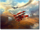 The Baron by David Poole - Fokker Dr.I Triplane - Red Baron - Aviation Art Print