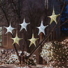 "Set of 3 Large Christmas Stars 26"" LED Lights Outdoor Hanging Holiday Decoration"