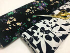 *NEW* Poly Viscose Stretch Jersey Floral Prints Dress/Craft Fabric* FREE P&P*