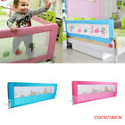 150/ 180cm Folding Child Toddler Bed Rail Safety Protection Guard Blue/ Pink