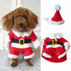 Pet Cat Dog Warm Santa Claus Xmas Cosplay Coat Costume Outfit Clothes Funny Cute
