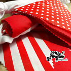 JILPI PATTERNED RED FABRIC BUNTING / BANNER, SPOTS STRIPES GINGHAM, CHRISTMAS!